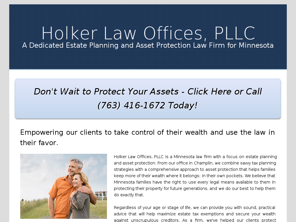 kody holker holker law offices pllc kody holker website screenshot
