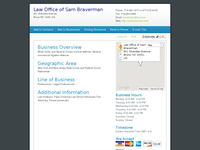 SAM BRAVERMAN website screenshot