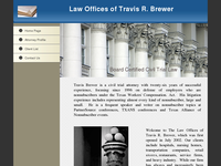 TRAVIS BREWER website screenshot