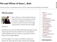 DANA BLATT website screenshot