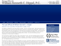 WILLIAM DIPPEL website screenshot