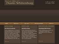 DUSTIN WHITTENBURG website screenshot