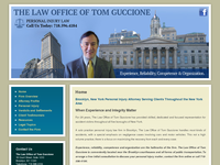 TOM GUCCIONE website screenshot