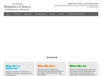 MARSHALL ZOLLA website screenshot