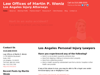 MARTIN WENIZ website screenshot