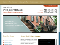 PHIL NAPOLITANO website screenshot
