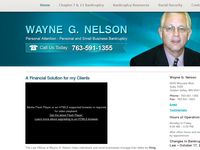 WAYNE NELSON website screenshot