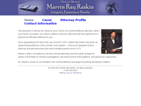 MARVIN RAY RASKIN website screenshot