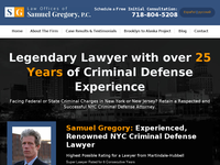 SAMUEL GREGORY website screenshot