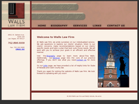 TINA WALLS website screenshot