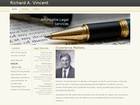 RICHARD VINCENT website screenshot