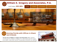 WILLIAM GREGORY website screenshot