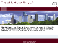 STEVE WILLIARD website screenshot