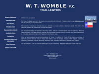 W WOMBLE website screenshot