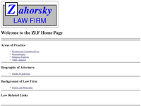 STANLEY ZAHORSKY website screenshot