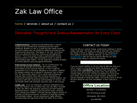 TIMOTHY ZAK website screenshot