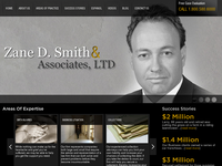 ZANE SMITH website screenshot