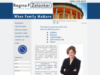 REGINA ZELONKER website screenshot
