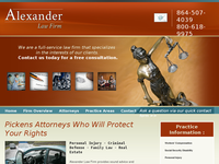 JAMES ALEXANDER website screenshot