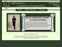 AMBEREEN AHMED website screenshot