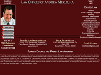 ANDREW MERLO website screenshot