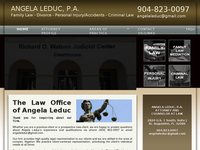 ANGELA LEDUC website screenshot