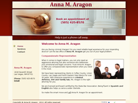 ANNA ARAGON website screenshot