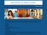 ANNE LEWIS website screenshot