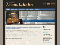 ANTHONY SANDERS website screenshot