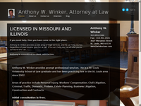 ANTHONY WINKER website screenshot