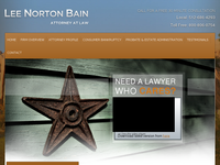 LEE NORTON BAIN website screenshot