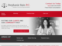 STEPHANIE BAIN website screenshot