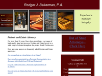 RODGER BAKERMAN website screenshot