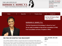 BARBARA BANKS website screenshot