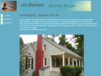 JAMES BARFIELD III website screenshot