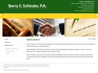 BARRY SCHINDER website screenshot