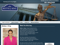 BETTYE KING website screenshot