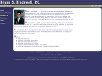 BRYAN BLACKWELL website screenshot