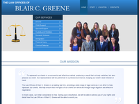 BLAIR GREENE website screenshot