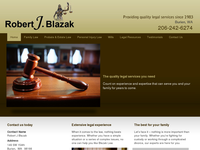 ROBERT BLAZAK website screenshot