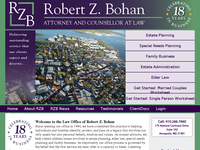 ROBERT BOHAN website screenshot