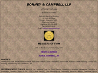 HENRY BONNEY website screenshot