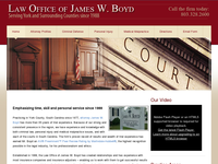 JAMES BOYD website screenshot