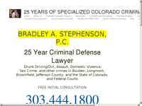 BRADLEY STEPHENSON website screenshot