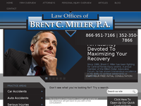 BRENT MILLER website screenshot