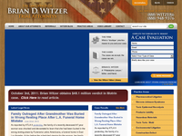 BRIAN WITZER website screenshot
