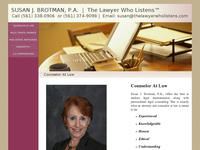 SUSAN BROTMAN website screenshot