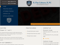ROBERT CABINESS website screenshot