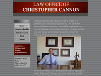 CHRISTOPHER CANNON website screenshot