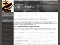 CARL SIZEMORE website screenshot